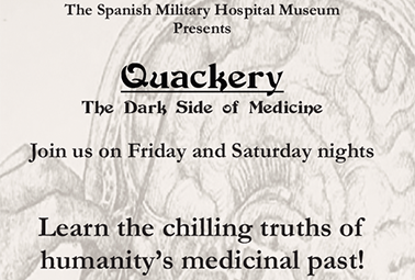 quackery the dark side of medicine - new tour at spanish military hospital museum